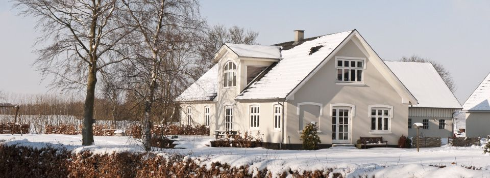 Country house in winter